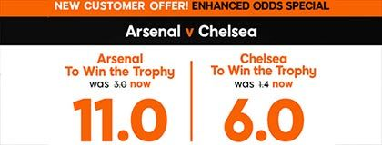 Bet on Arsenal vs Chelsea