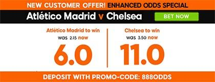 Bet on Atletico vs Chelsea