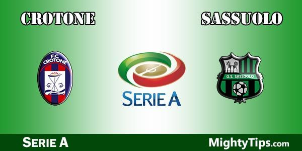 Crotone vs Sassuolo Prediction, Preview and Bet