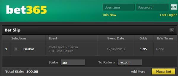 Costa Rica vs Serbia Prediction and Bet