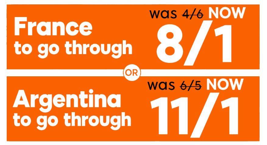 France vs Argentina Enhanced Odd and Promo Bet