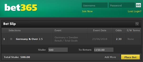 Germany vs Sweden Prediction and Bet