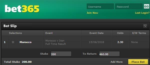 Morocco vs Iran Bet