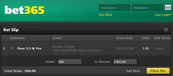 Russia vs Egypt Prediction and Bet