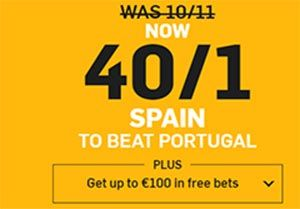 Spain to beat Portugal Enhanced Odd