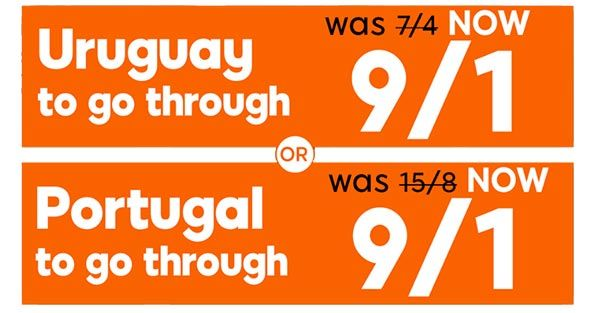 Uruguay vs Portugal Enhanced Odd and Promo Bet