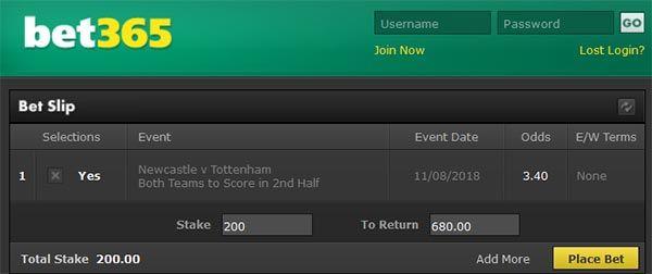 Newcastle vs Tottenham Prediction and Bet