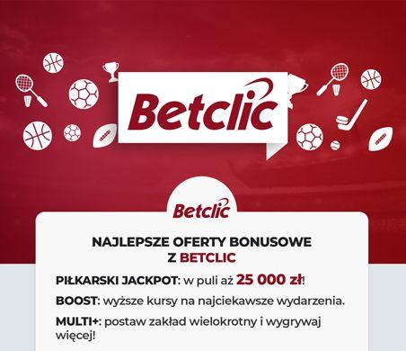 Betclic oferty bonusowe: Piłkarski jackpot, Boost, Multi+