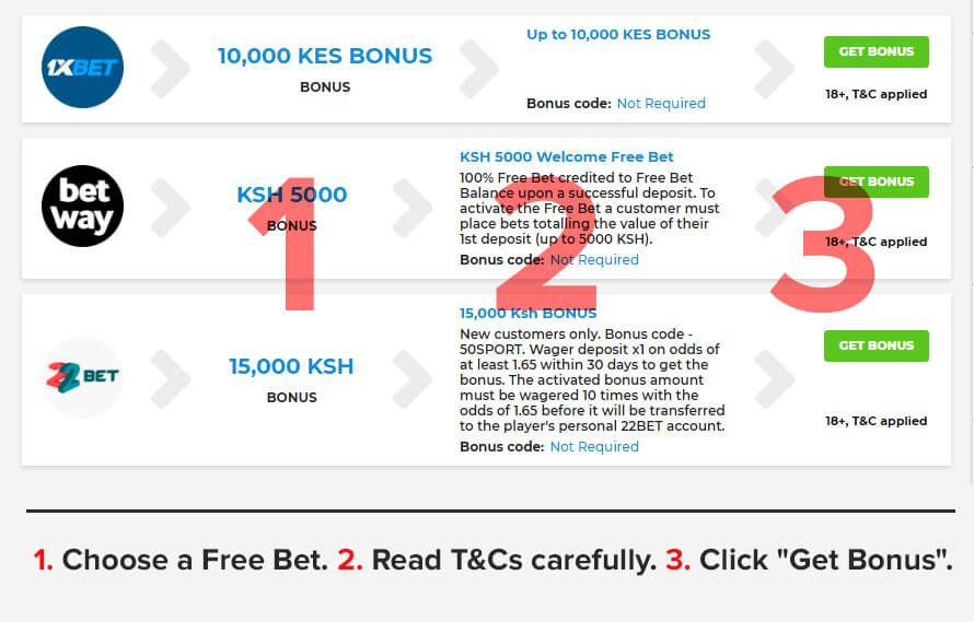 how to get free bet