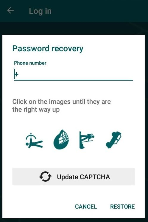 22bet password recovery - Android