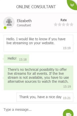 22bet Live Chat Support Competence