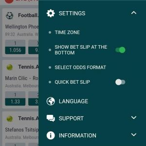 22bet odds format - web/iOS - Step 1