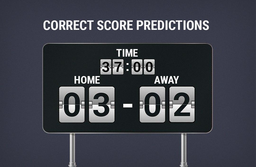 correct score predictions