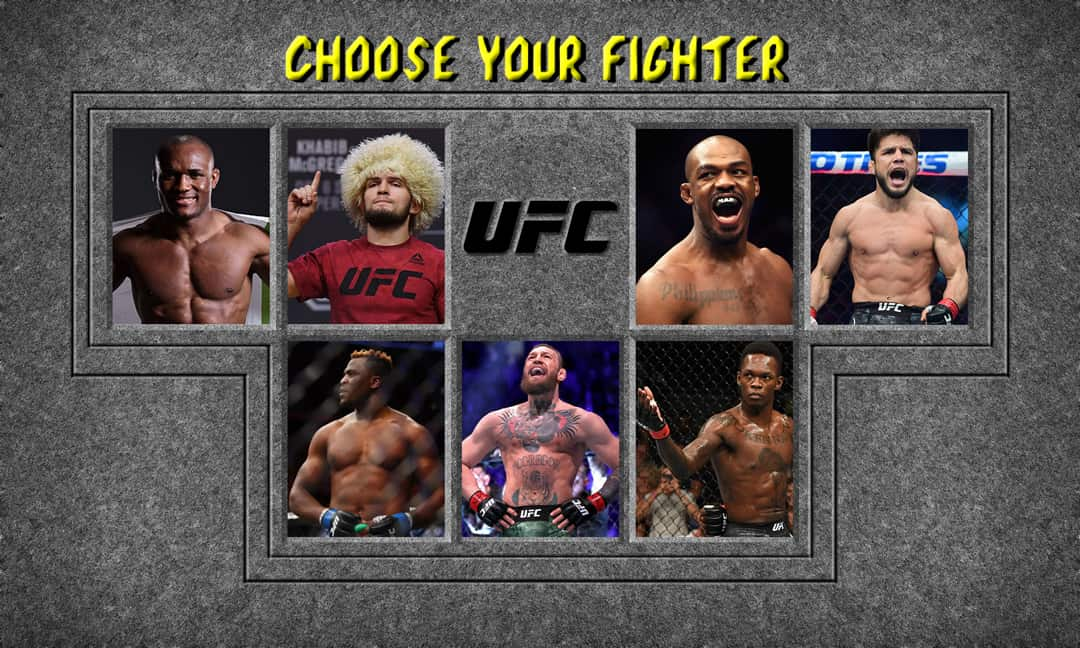 ufc fighter selection menu