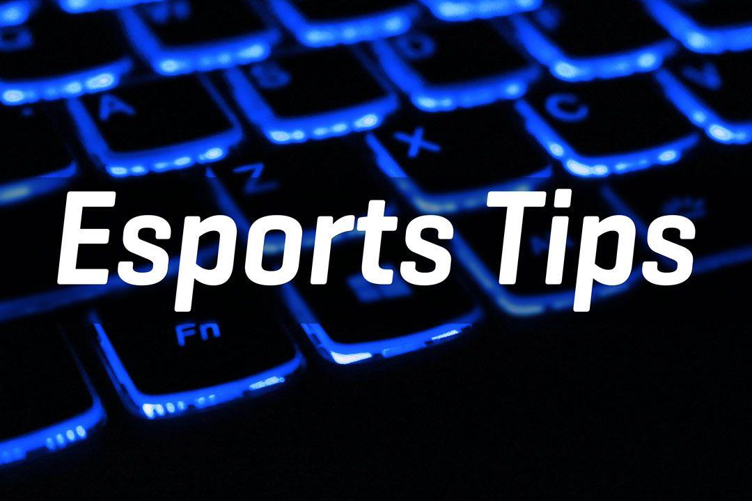 esports tips on neon gaming keyboard