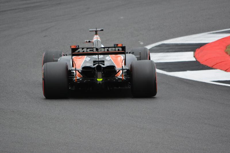 McLacren F1 bolid on the track