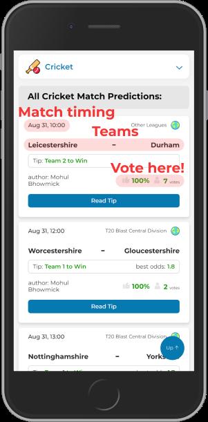 Mightytips cricket predictions