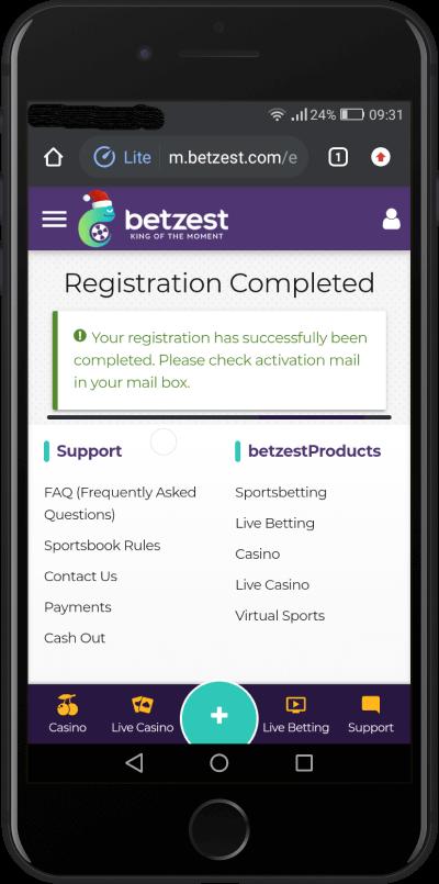 betzest registration done