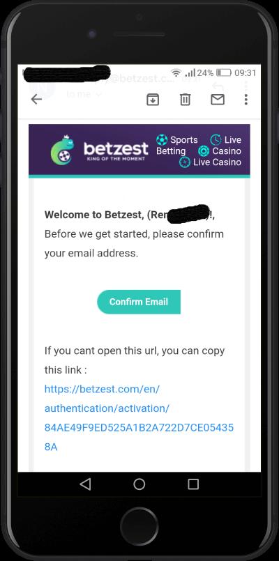 betzest registration verification
