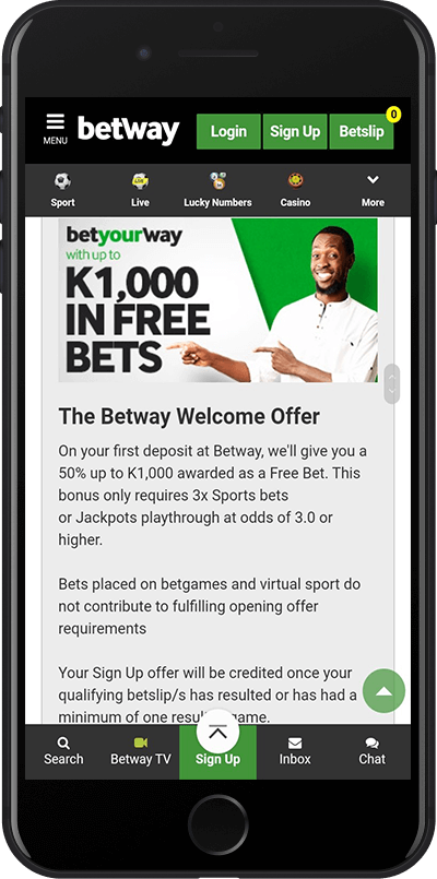 betway zambia welcome offer