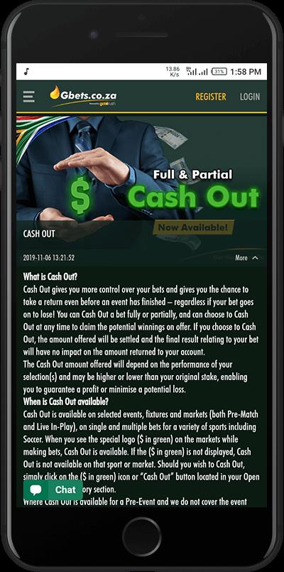 gbets cashout offer