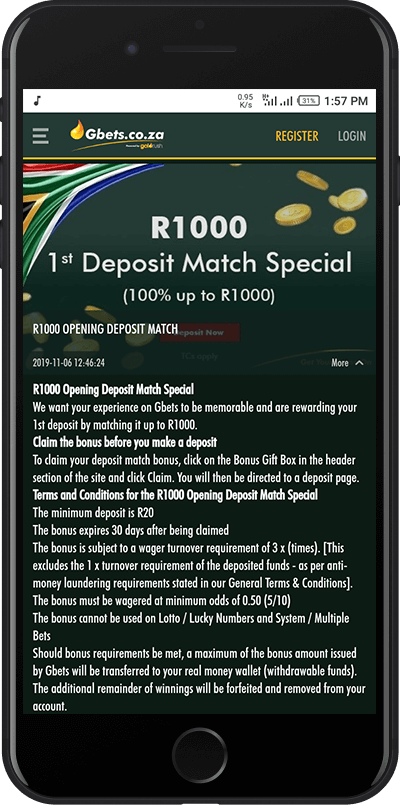 First deposit bonus!