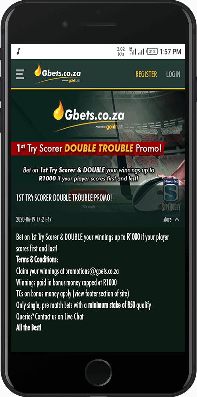 gbets double trouble promo