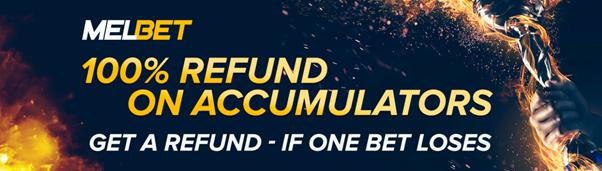 melbet 100% refund for acca bonus