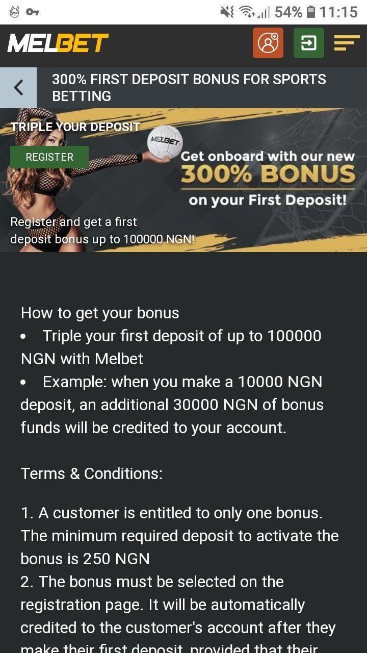 melbet 300% first deposit bonus