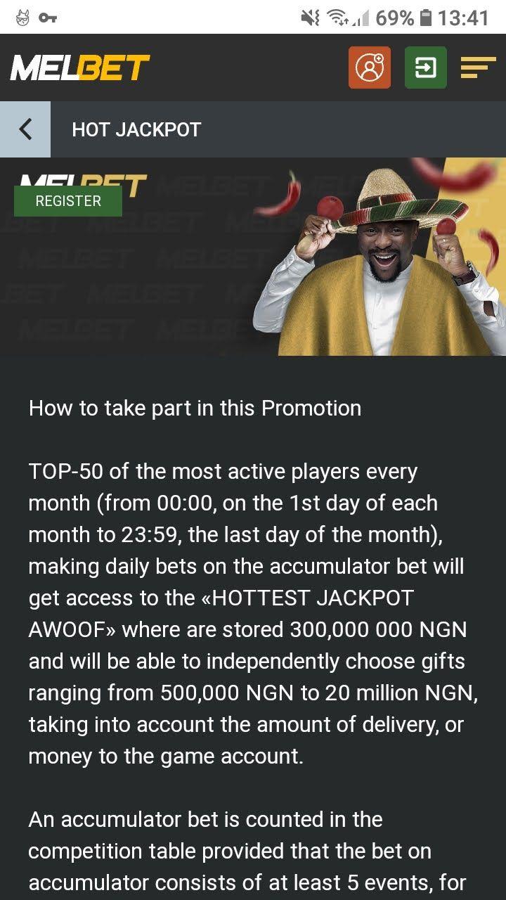 melbet hot jackpot bonus