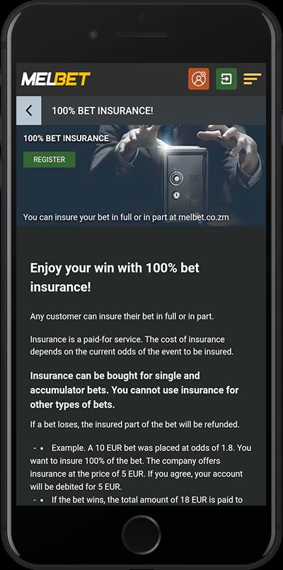 melbet zambia insurance bonus